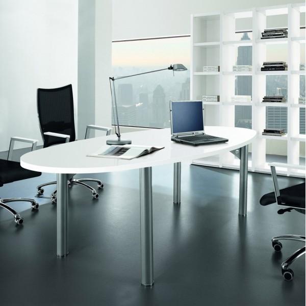 Table bureau ovale 8 places arlington lemondedubureau for Bureau ovale