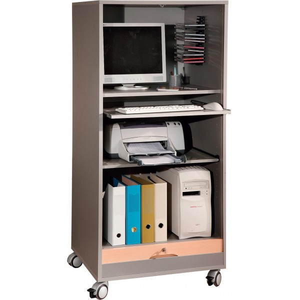 Armoire informatique mobile tivoli lemondedubureau for Bureau armoire informatique