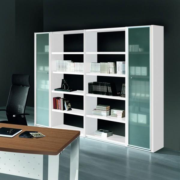 biblioth que de bureau vitr e bale lemondedubureau. Black Bedroom Furniture Sets. Home Design Ideas