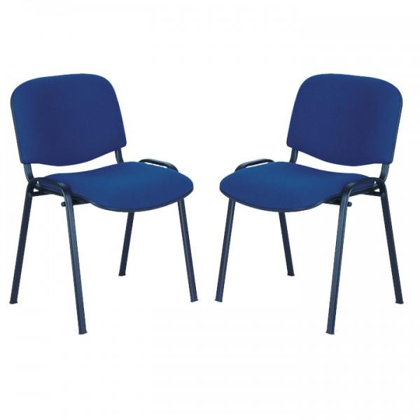 lot de 2 chaises empilables bonn lemondedubureau. Black Bedroom Furniture Sets. Home Design Ideas