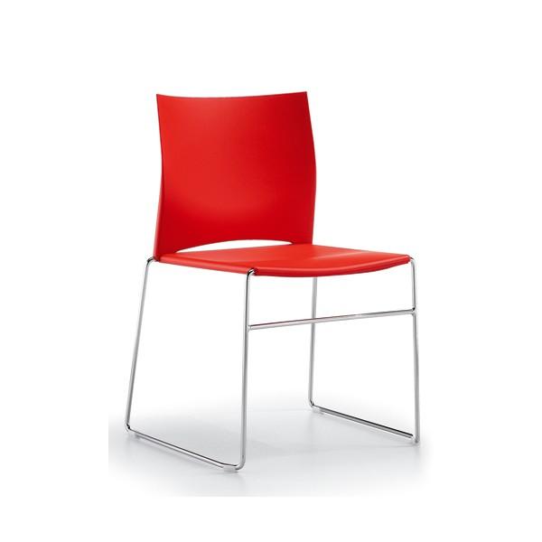 Chaise d 39 accueil empilable et design dijon lemondedubureau - Chaise empilable design ...