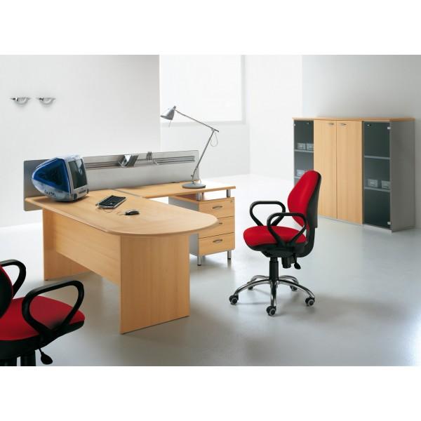 bureau droit pied panneau aurora lemondedubureau. Black Bedroom Furniture Sets. Home Design Ideas