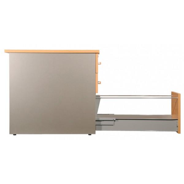 Caisson de bureau 3 tiroirs 80cm de profondeur for Bureau profondeur 40 cm
