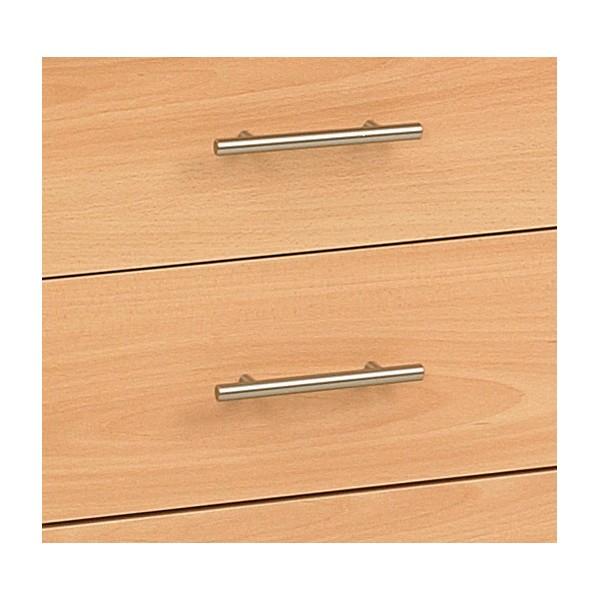 Caisson de bureau 3 tiroirs acc r25 profondeur 80cm for Bureau 45 cm profondeur
