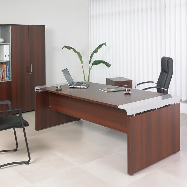 bureau de direction en bois et acier xtrem lemondedubureau. Black Bedroom Furniture Sets. Home Design Ideas