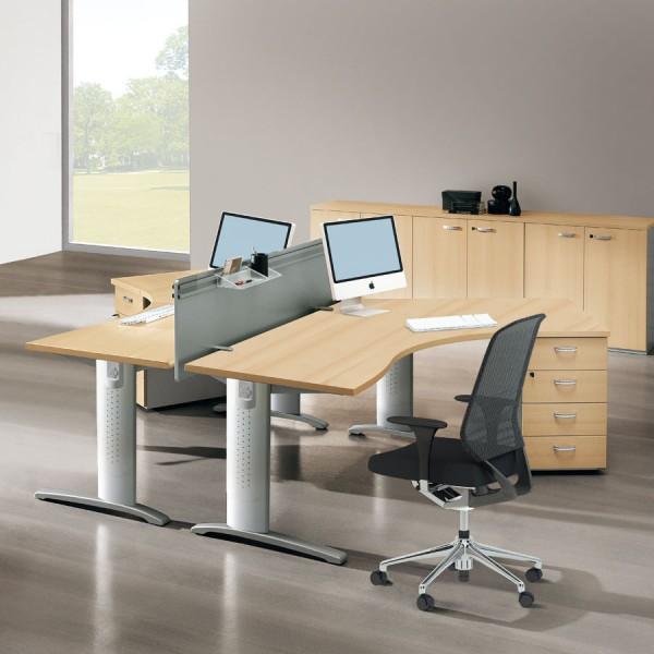 bureau avec retour gauche droite kingstone lemondedubureau. Black Bedroom Furniture Sets. Home Design Ideas