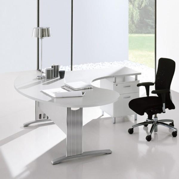 Bureau ergonomique avec retour sur caisson Portland IDEA-S40