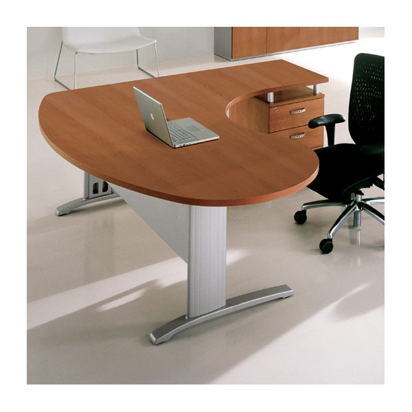 Bureau ergonomique avec retour sur caisson portland for Norme ergonomique bureau