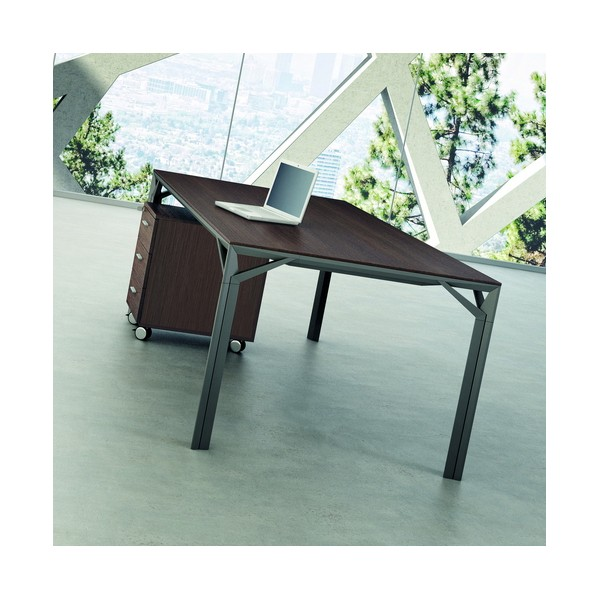 bureau droit 180cm 220cm en aluminium eight lemondedubureau. Black Bedroom Furniture Sets. Home Design Ideas