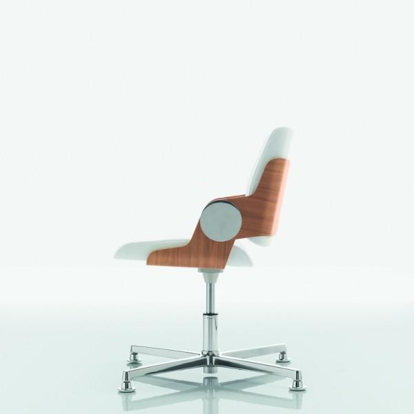 fauteuil visiteur en cuir et bois venise v lemondedubureau. Black Bedroom Furniture Sets. Home Design Ideas