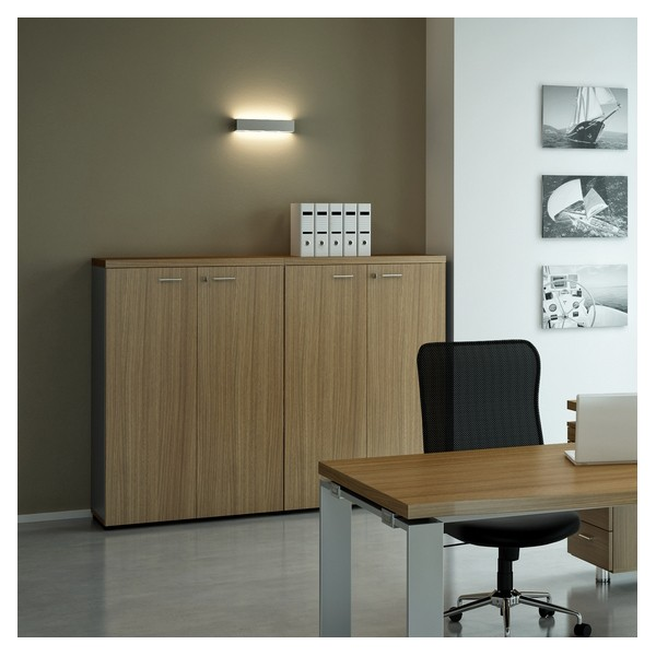 armoire basse de bureau 2 portes monza lemondedubureau. Black Bedroom Furniture Sets. Home Design Ideas