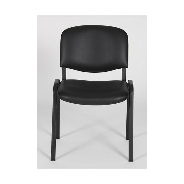 chaise d 39 accueil vinyl empilable ostrava lemondedubureau. Black Bedroom Furniture Sets. Home Design Ideas