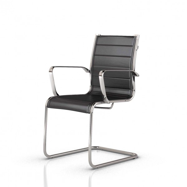 fauteuil et si ge visiteur design en cuir lemondedubureau. Black Bedroom Furniture Sets. Home Design Ideas
