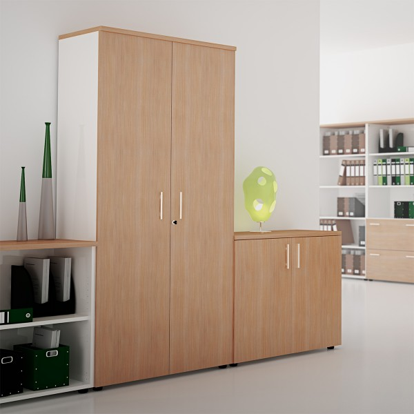 armoire de rangement en bois silver lemondedubureau. Black Bedroom Furniture Sets. Home Design Ideas