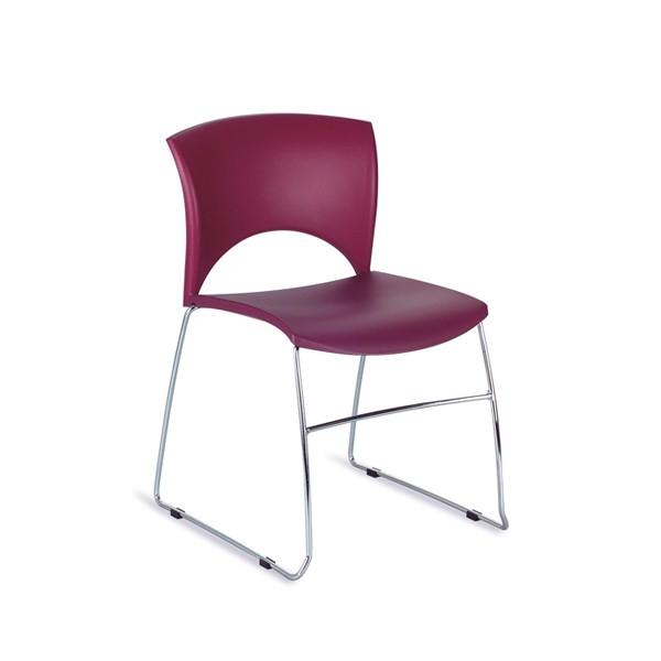 chaise d 39 accueil fil acier empilable vienne lemondedubureau. Black Bedroom Furniture Sets. Home Design Ideas
