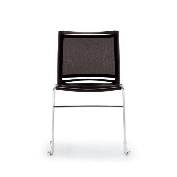 Chaise d'accueil design empilable et accrochable Dijon-T