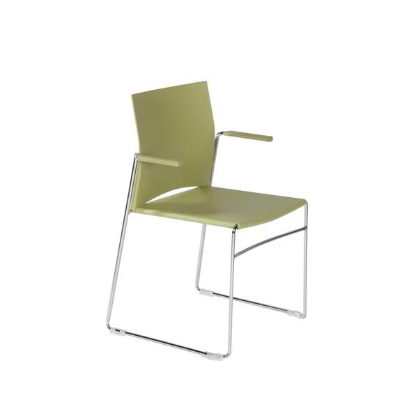 Chaise d'accueil design et empilable et accrochable Dijon-F
