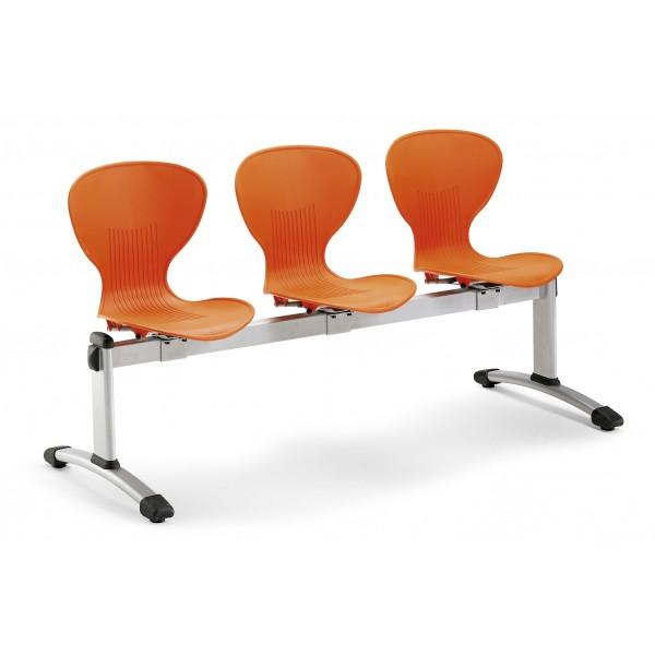 Chaise coque sur poutre Bun-P 2 à 5 places BUN-P