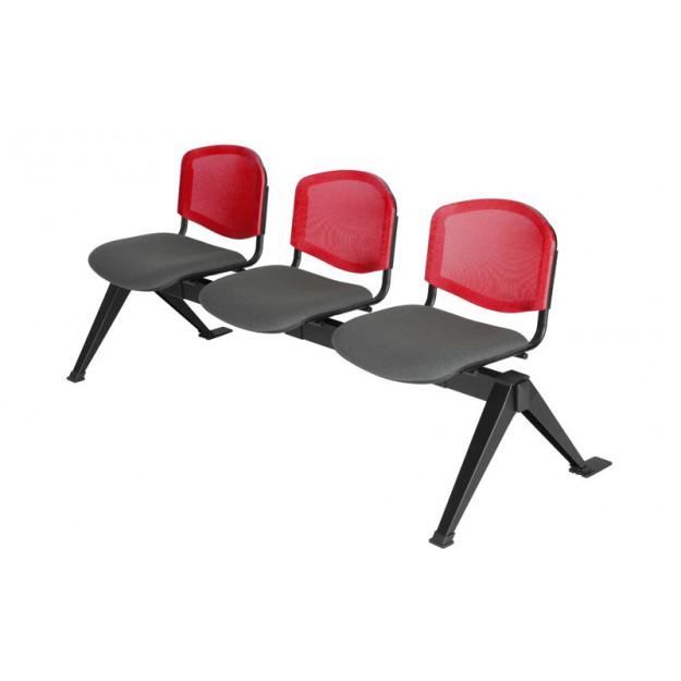Chaise poutre tissu - de 2 à 5 places