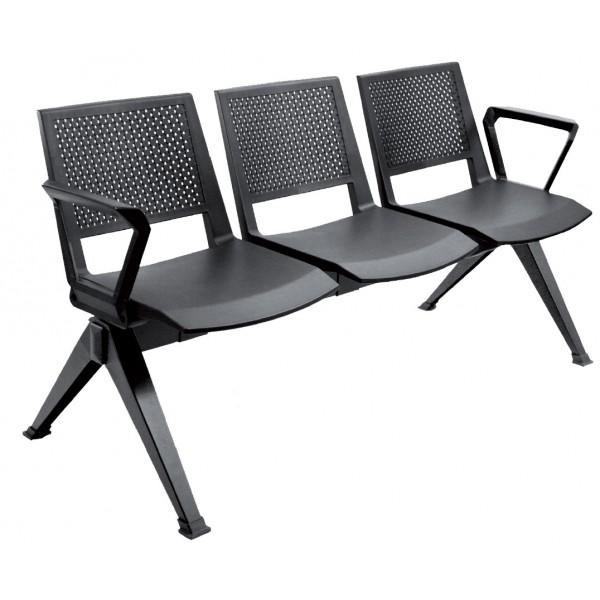 Chaise coque sur poutre Keno-P 2 à 5 places KENO-P