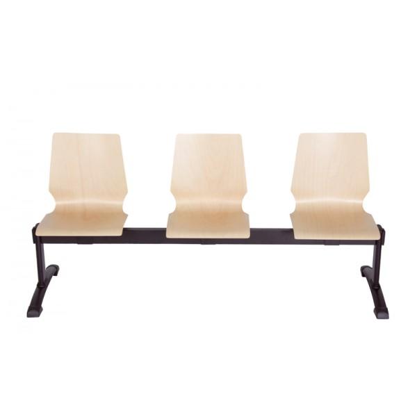 Chaise poutre assise en bois Hampton-P 2-5 places