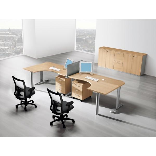 bureau compact avec retour halle lemondedubureau. Black Bedroom Furniture Sets. Home Design Ideas
