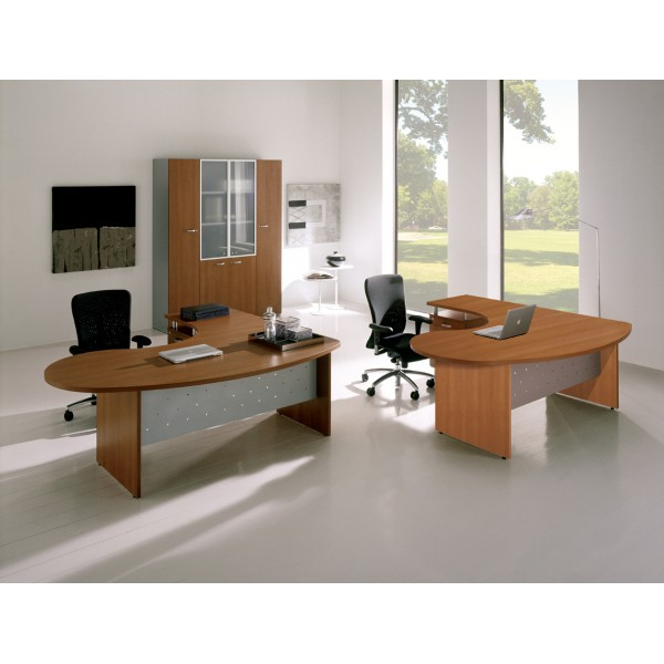 bureau ergonomique avec retour riverside lemondedubureau. Black Bedroom Furniture Sets. Home Design Ideas