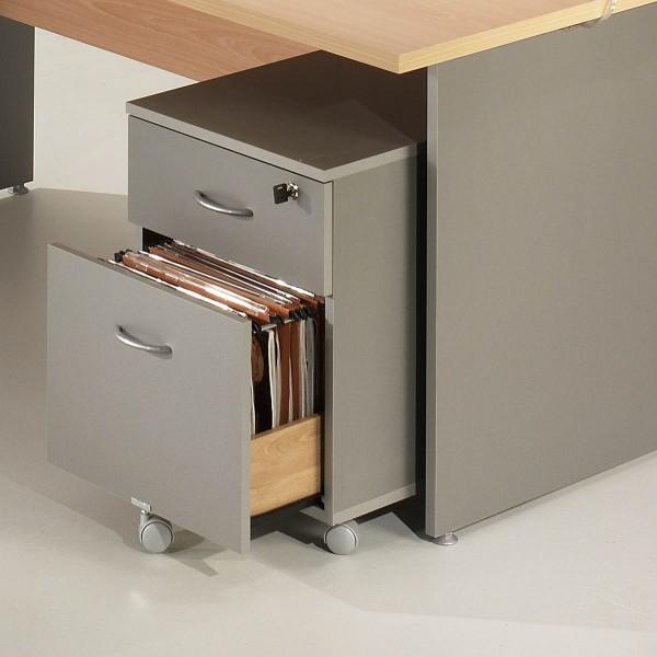 Caisson de bureau mobile 2 tiroirs acc r29 lemondedubureau for Bureau 2 tiroirs