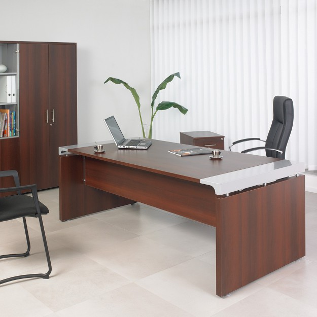 bureau de direction design ergonomique avec tiroirs de. Black Bedroom Furniture Sets. Home Design Ideas